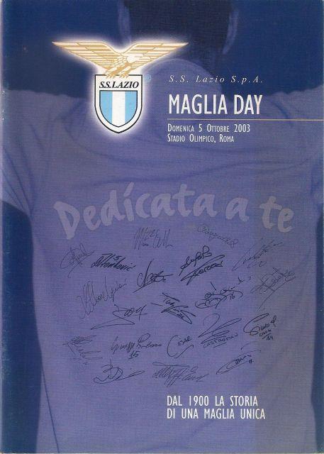 5 Ottobre 2003 - Campionato Serie A - Maglia Day - Lazio-Chievo