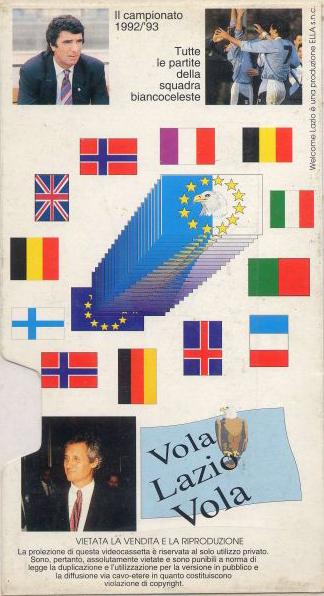 1992-93 - Videocassetta - Welcome Lazio - Il cammino verso l'Europa - (Retro)