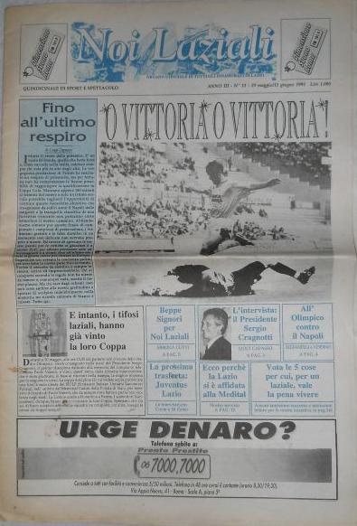 29 Maggio-11 Giugno 1993 - Noi Laziali - Lazio-Napoli