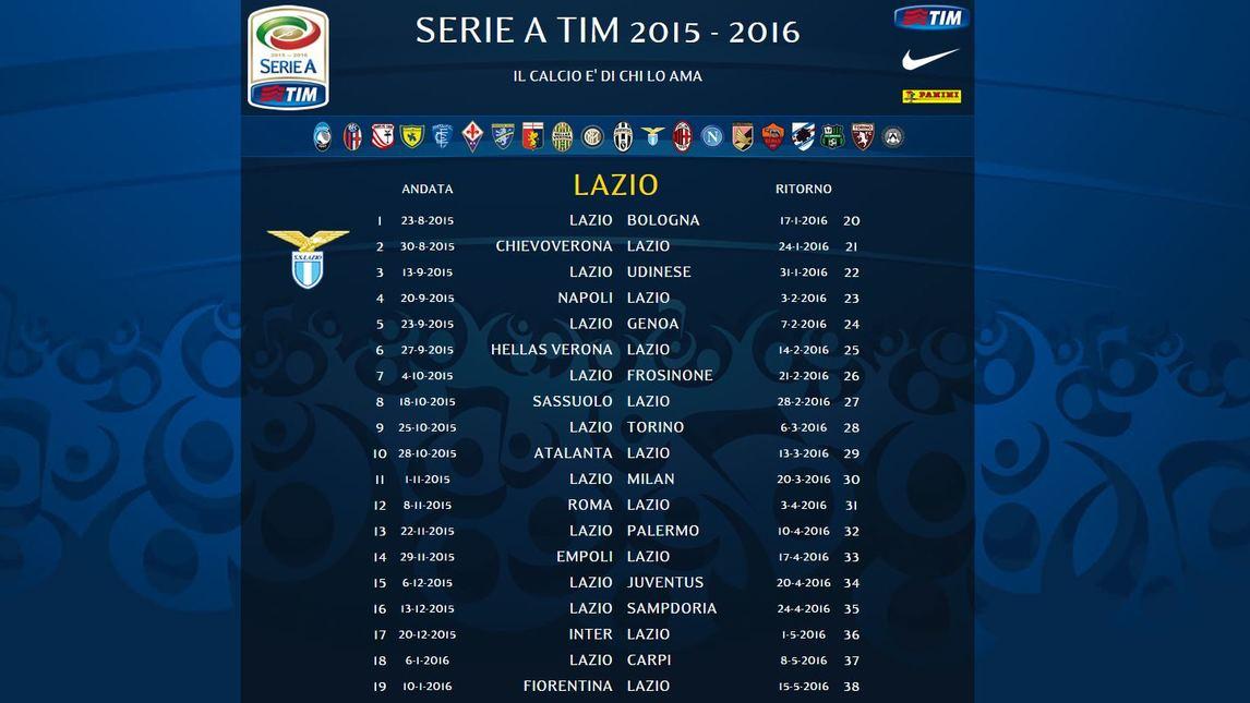 Calendario Lazio.Ecco Tutto Il Calendario Della Lazio Foto Laziopress It