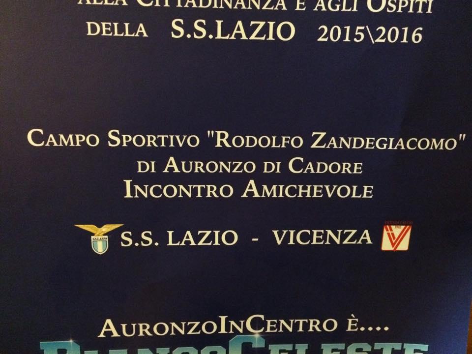 Lazio Vicenza amichevole
