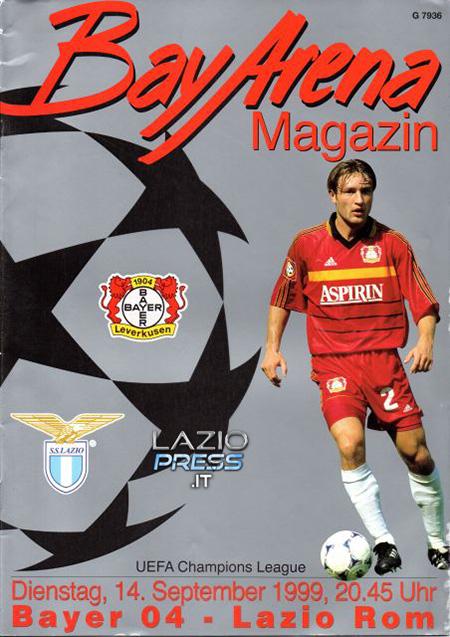 Programma - 14 Settembre 1999 - Uefa Champions League - Bayer Leverkusen-Lazio