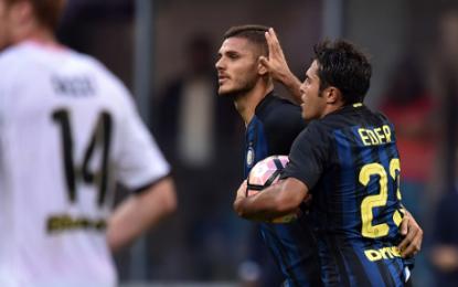 Serie A, ci pensano Candreva ed Icardi a salvare De Boer: pareggio amaro contro il Palermo