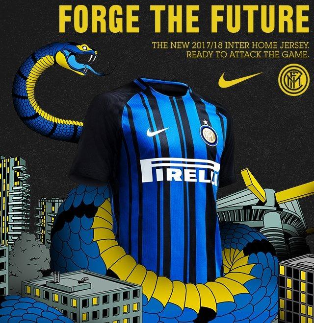 Inter: presentata la divisa per la stagione 2017