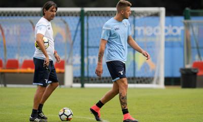Simone Inzaghi e Sergej Milinkovic Savic 21-07-2017 Auronzo di Cadore  Ritiro estivo 2017-2018 SS Lazio @ Marco Rosi / Fotonotizia