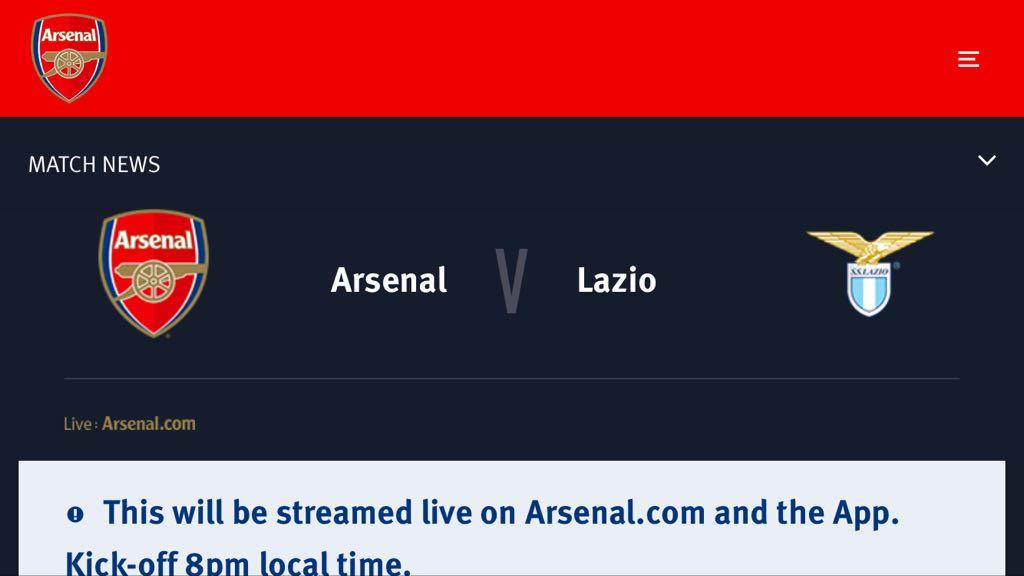 La Lazio cade contro l'Arsenal, 2-0 firmato Nelson e Aubameyang